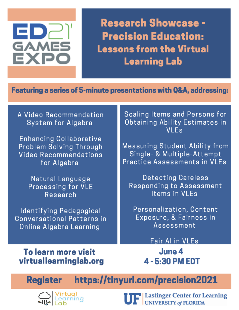 ED21 Games Expo Research Showcase flyer